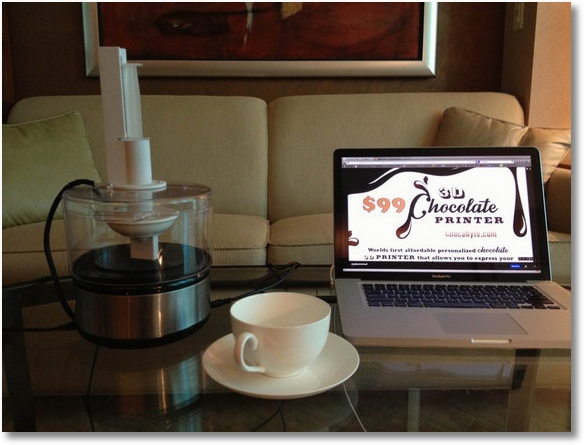 ChocaByte – the world's first affordable 3D chocolate printer