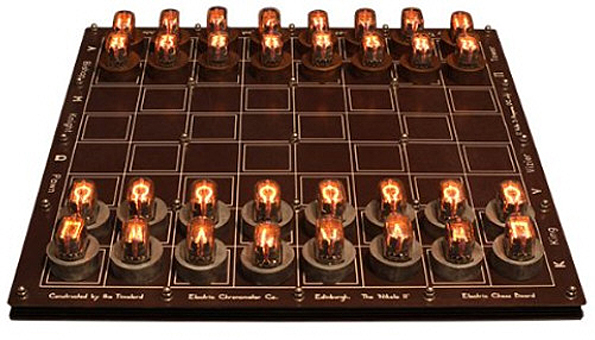 DIY Nixie Tube Chess Set – induction based board lights up your game