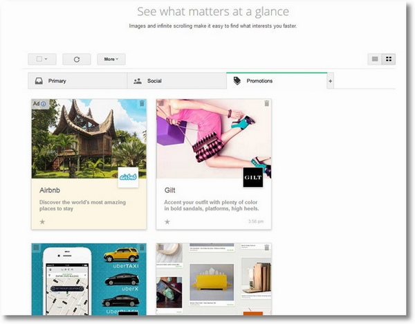 googlepromotions Google now wants to Pinterest your inbox