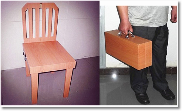 Suitcase Chair – so what's it to be, sit or travel?