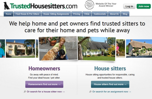 Trusted Housesitters – got a pet? Need care during vacations? Try this service.