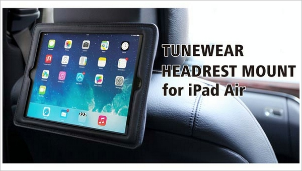 TuneWear Headrest Mount for iPad Air – strap a portable multimedia house to your car and enjoy