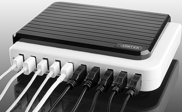 Unitek 10 Port USB Charger – how many portable gadgets are in your home, right now?