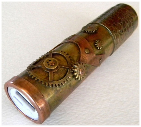 Steampunk Portable USB Charger – geek out with style when you need extra power