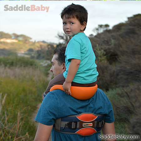 Saddlebaby Shoulder Carrier – because your kid deserves the throne
