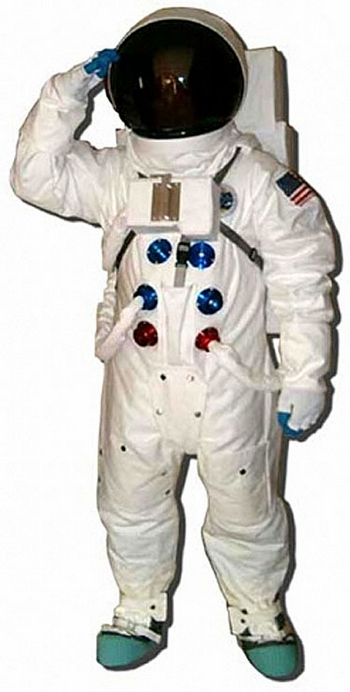 apollospacesui2t Apollo Astronaut Full Space Suit Replica   Houston we are good to go...