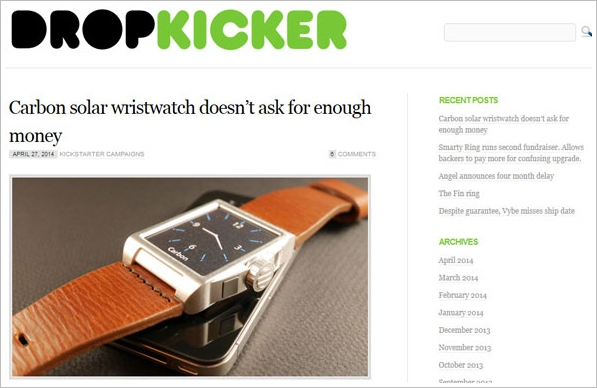 Drop Kicker – taking a long hard look at Kickstarter and other crowdfunding projects