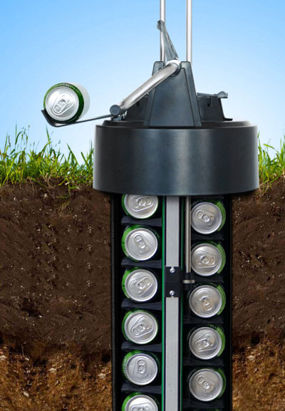 eCool Underground Beer Cooler1 eCool Underground Beer Cooler   for those who like their cans cold