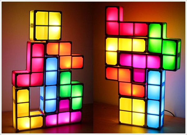 DIY USB Tetris Lamp - relive the 80s and pander to your block dropping devotion