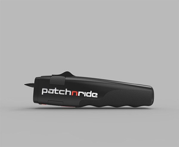 PatchNRide – ultra cool tool fixes a flat tire on your bike in seconds, no mess, no gunk, no wheel removal