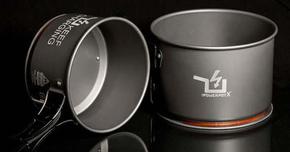 The PowerPot X: New Faster Charger Powers Your Apple While It Cooks Your Beans
