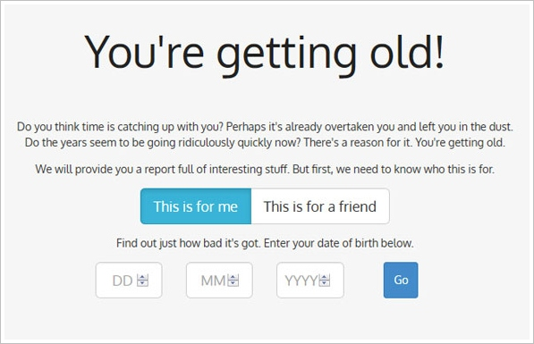 You're Getting Old - cool online app lets you find out what's been going on during your lifetime so far