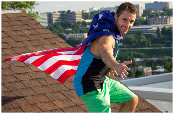 American Flag Capes – rooftop and villains optional