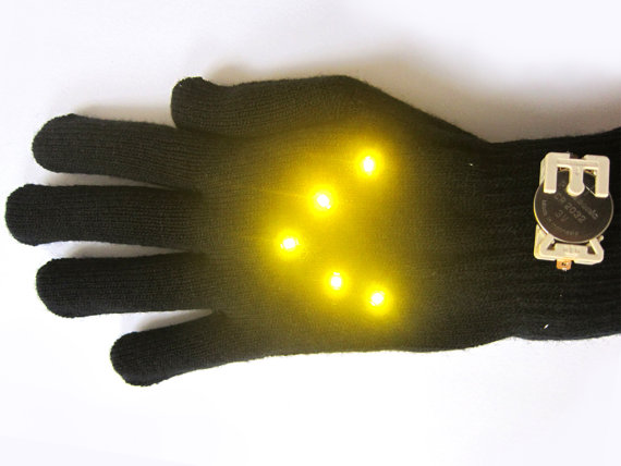 biking glowes Biking Glowes DIY Kit   signal your directions with these cool looking DIY gloves