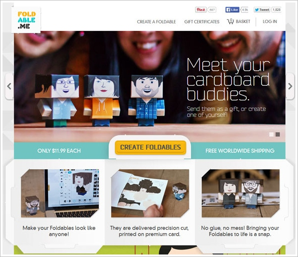 Foldable Me – create your very own cute cardboard buddy
