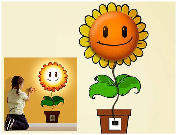 Happy Sunflower Wall Lamp – don't just light up your room, brighten it up as well