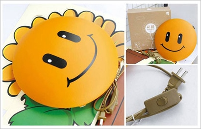 happysunflowerwalllamp3 Happy Sunflower Wall Lamp   dont just light up your room, brighten it up as well
