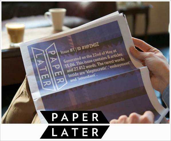 PaperLater – create your own newspaper from stuff you don't have time to read online