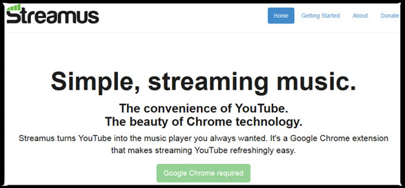 Streamus – search and stream songs from YouTube in Chrome [Freeware]
