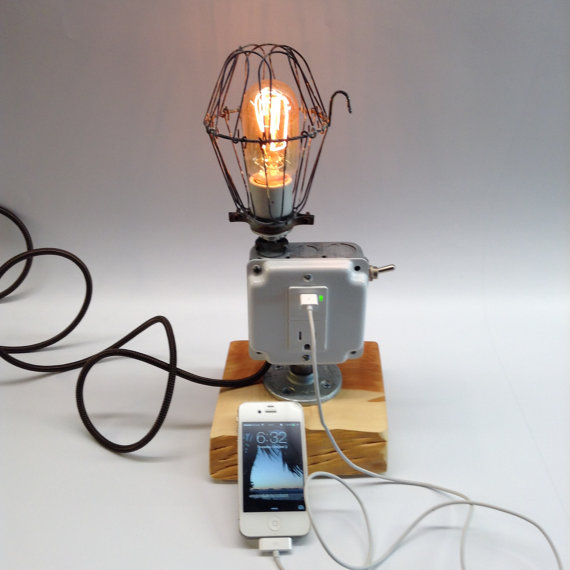 Industrial Light Cell Phone Dock Charger – the mad ugly grad school art project of charge stations