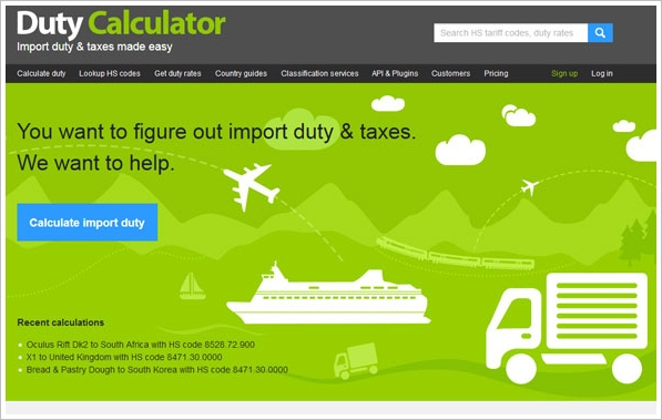 Duty Calculator – find out instantly how much you'll pay when importing an item from another country