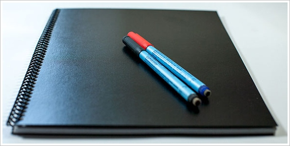 LetterForms Dry Erase Notebook – the cool paperless notebook you can use again and again