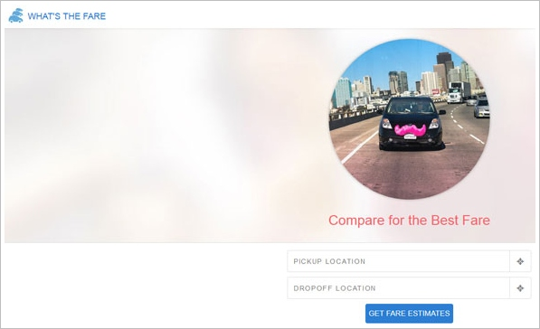 What's The Fare? – new free online service lets you compare fares between Uber, Lyft and a taxi cab in an instant