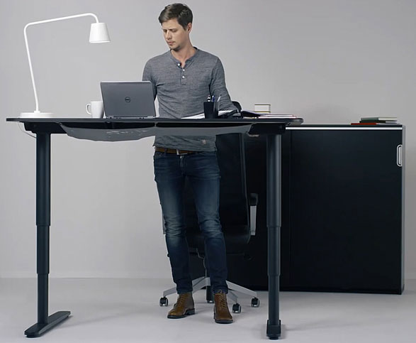 IKEA BEKANT Sit/Stand Desk – up or down, it's your choice