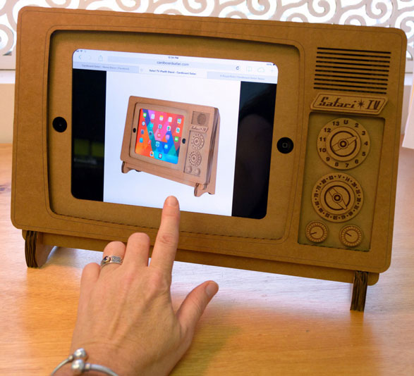 Safari TV iPad Stand – turn your iPad into beautifully recycled retro