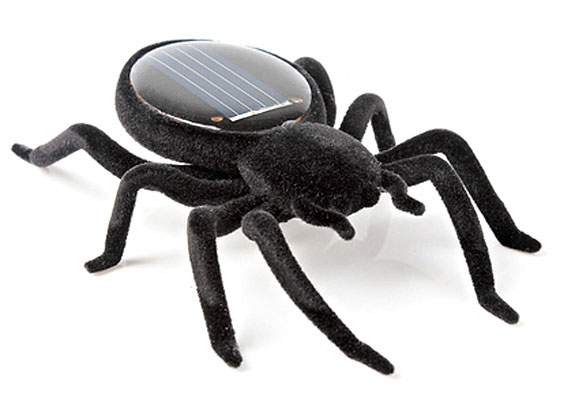 Solar Powered Black Widow Spider – this little critter puts the quake back into sunshine