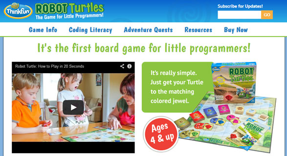 Robot Turtles – teach your kids to code before they learn to read with this game