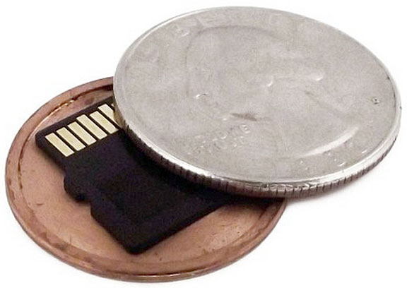 Micro SD Card Covert Coin – this spy coin makes it super easy to steal a library