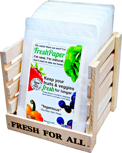 Fresh Paper – keep your fruit and veggies fresher longer with a single sheet of paper