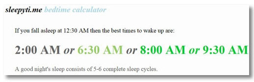 Sleepyti.me Bedtime Calculator – free onlne service helps you sleep better, wake up feeling good