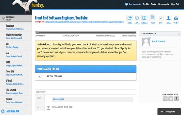 Huntsy – free add-on turbo charges your job search [Freeware]