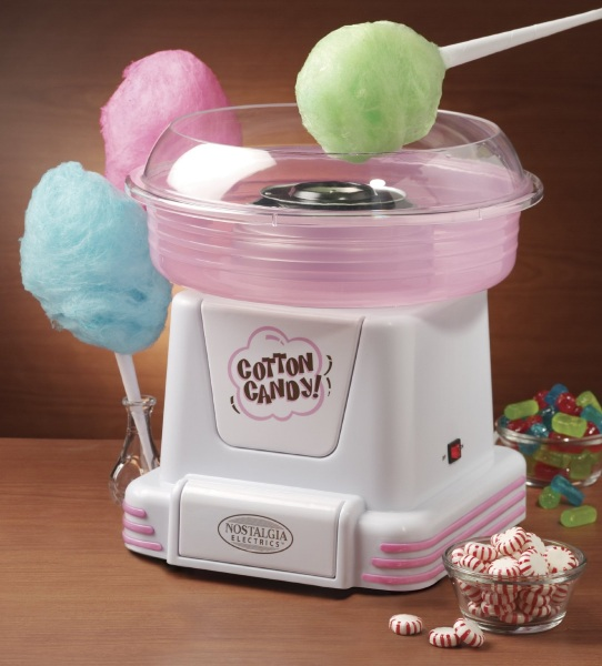 Nostalgia Electrics PCM805 Hard & Sugar-Free Candy Cotton Candy Maker – make the carnival treat in your own kitchen