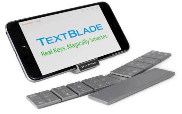 Textblade – a mini keyboard for texting