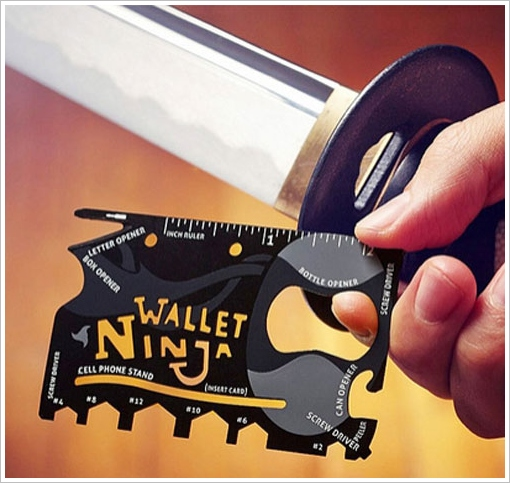 Wallet Ninja – 18 in 1 tool for your pocket is rather impressive
