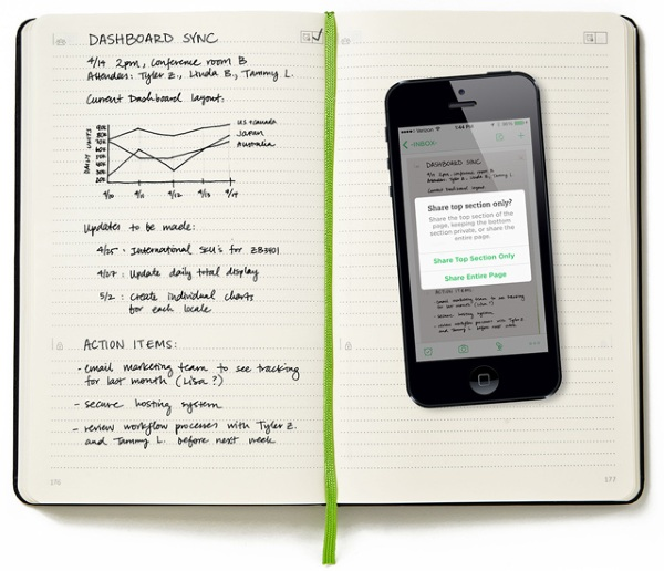 Moleskine Evernote Smart Notebook – transfer your notes from long form to digital effortlessly