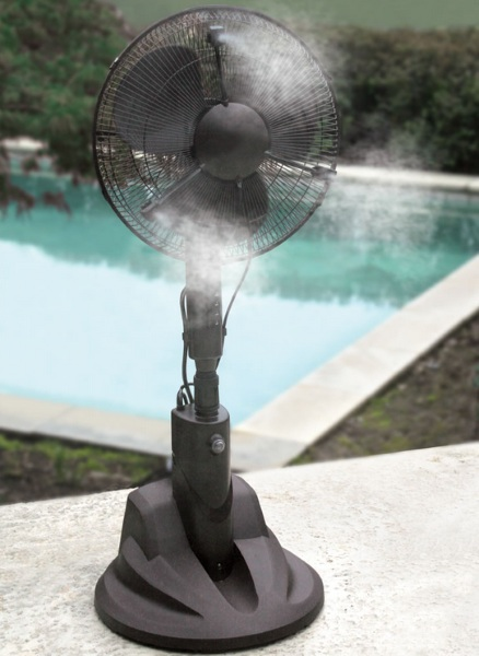 The Evaporative Misting Fan – cool your patio down with this little rainmaker