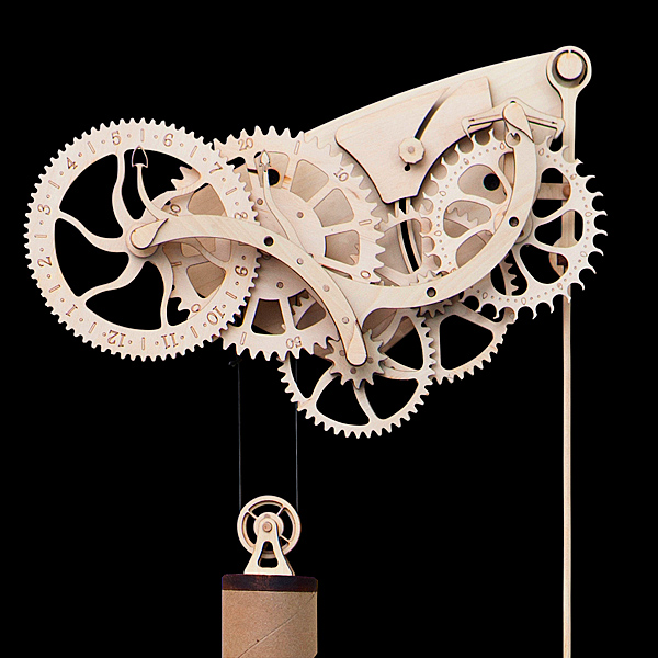 Wooden Mechanical Clock Kit Steampunk Inspired DIY For The Time Enthusiast