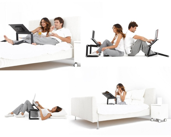 iCraze Adjustable Vented Laptop Table – make the comfort of your own bed more comfortable