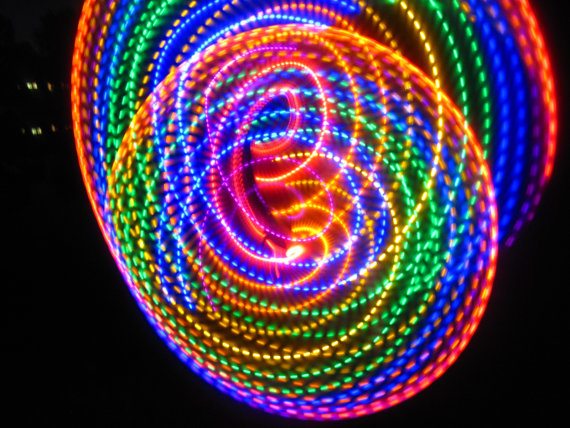 Strobing LED Hula Hoop – watch the light show as you hula hoop