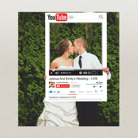 YouTube Photo Prop – bring a little internet into your IRL