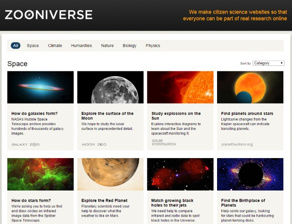 Zooniverse – donate your free time to some crowdsourced science