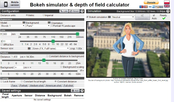 Bokeh Simulator and Depth of Field Calculator – become a better photographer using this website