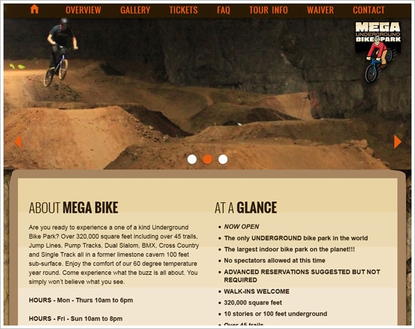 Mega Underground Bike Park provides healthy fun year-round