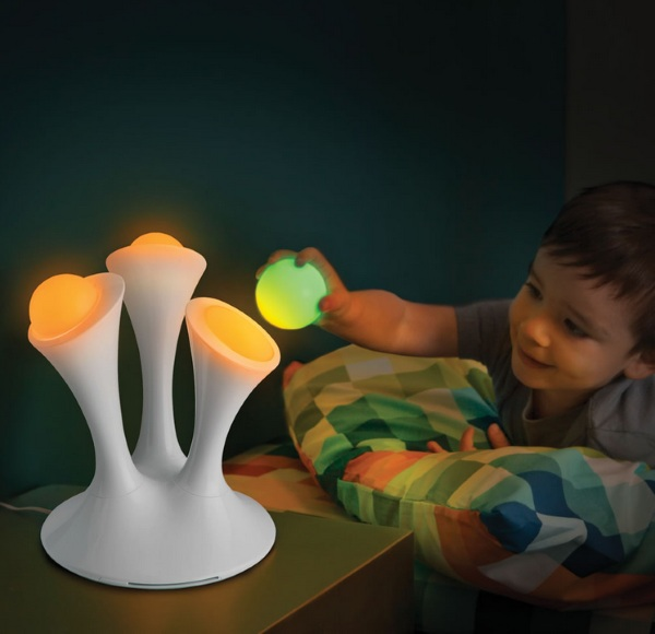 The Take With You Nightlight Orbs in use