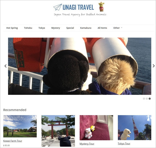 Unagi – the travel agency for stuffed animals