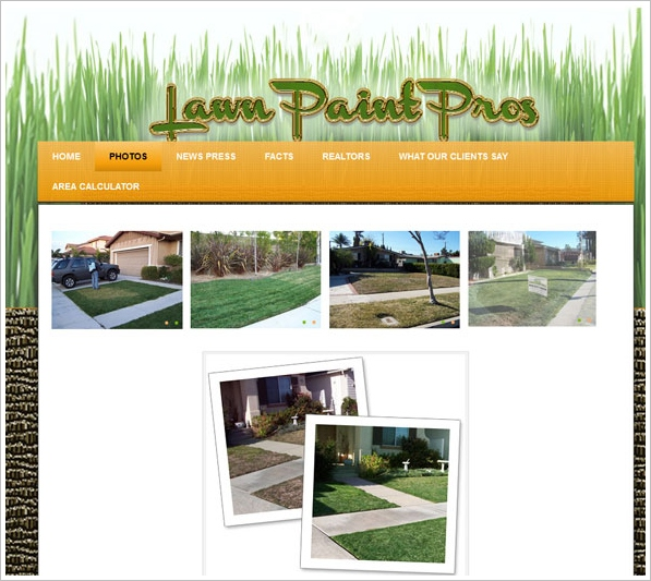 Lawn Paint Pros – beat the drought blues in California with some clever artwork